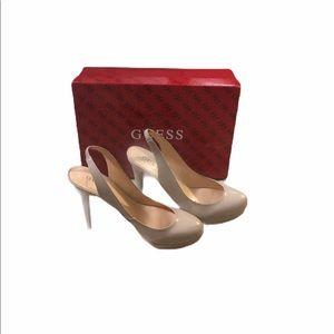 GUESS women's beige/tan pumps size 8.5M